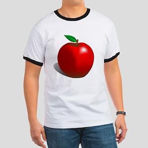 Red Apple Fruit Ringer T