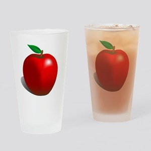 Red Apple Fruit Drinking Glass