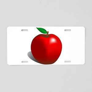 Red Apple Fruit Aluminum License Plate