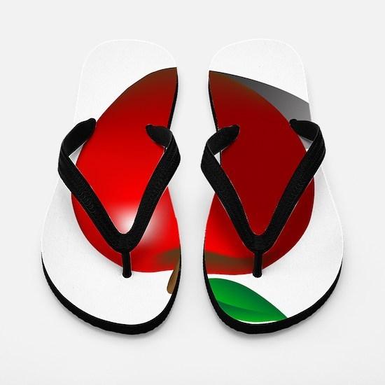 Red Apple Fruit Flip Flops