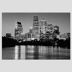 Texas, Austin, Panoramic view of a city skyline (B