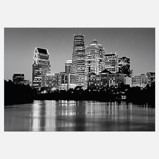 Texas, Austin, Panoramic view of a city skyline (B