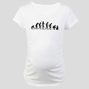 De-Evolution Maternity T-Shirt
