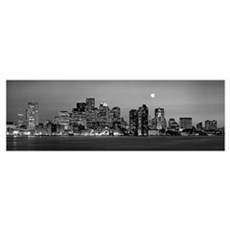 Massachusetts, Boston, Panoramic view of a city sk Poster