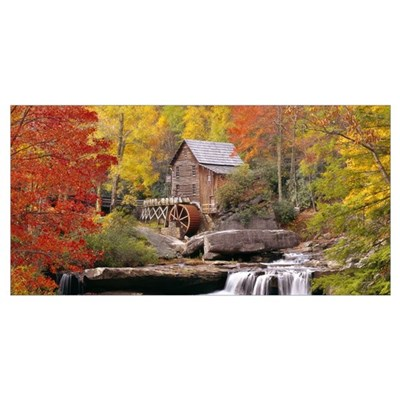West Virginia, Glade Creek Grist Mill Babcock, St Poster