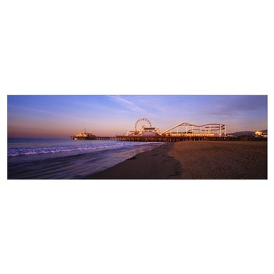 California, Santa Monica Pier Framed Print