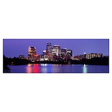 Skyline Austin TX Poster