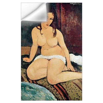 Seated Nude (oil on canvas) Wall Decal