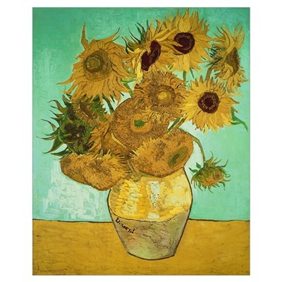 Sunflowers, 1888 (oil on canvas) Framed Print