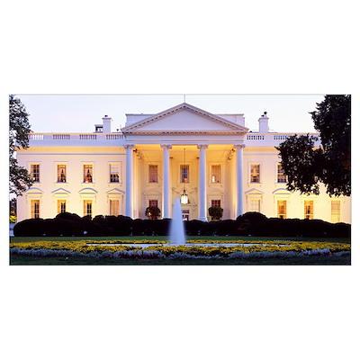 Washington DC, White House, twilight Poster