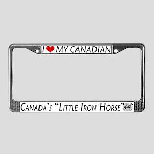 Canadian Horse Lover's License Plate Frame