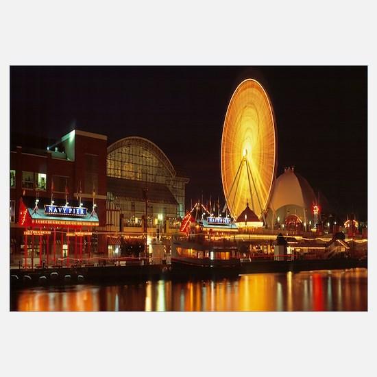 Night Navy Pier Chicago IL