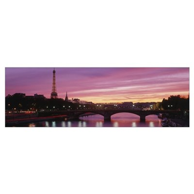 Eiffel Tower Paris France Framed Print