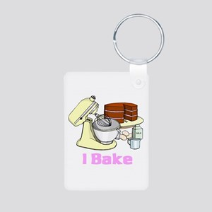 I Bake Aluminum Photo Keychain