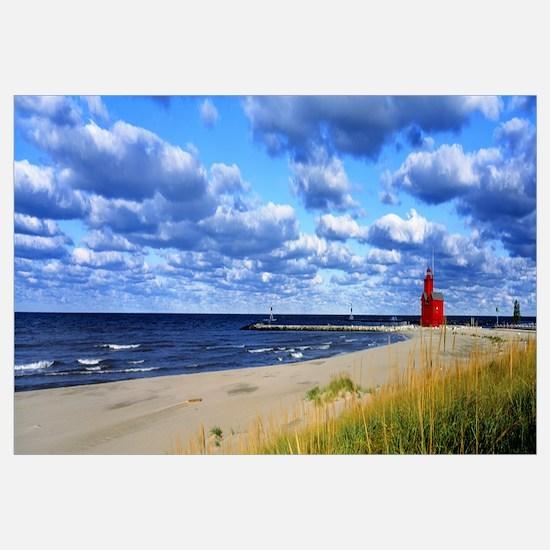 Big Red Lighthouse Lake Michigan Holland MI