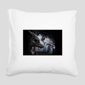 VAMPIRE VERSUS WEREWOLF Square Canvas Pillow
