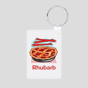 Rhubarb Aluminum Photo Keychain
