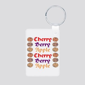 Flavors of Pie Aluminum Photo Keychain
