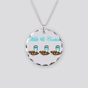 Milk and Cookies Necklace Circle Charm