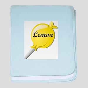 Lemon Lollipop baby blanket