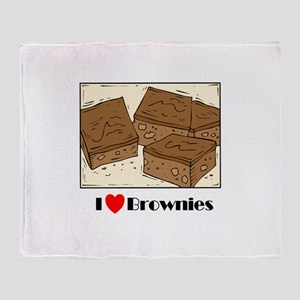 I Love Brownies! Throw Blanket