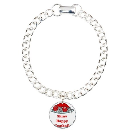 Shiny Happy Meatballs Charm Bracelet, One Charm