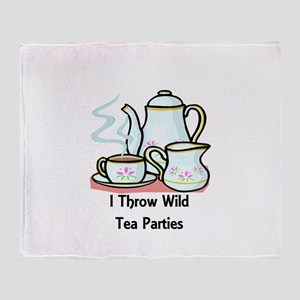 Wild Tea Parties Throw Blanket