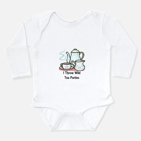 Wild Tea Parties Long Sleeve Infant Bodysuit