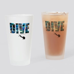 dive in pics copy Drinking Glass