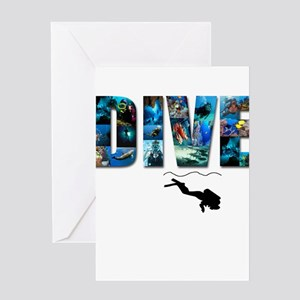 dive in pics copy Greeting Cards