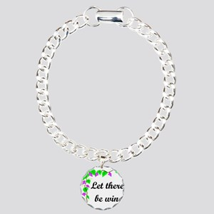 Let there be Wine Charm Bracelet, One Charm