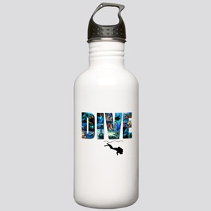 dive in pics copy Stainless Water Bottle 1.0L