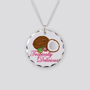 Tropically Delicious Necklace Circle Charm