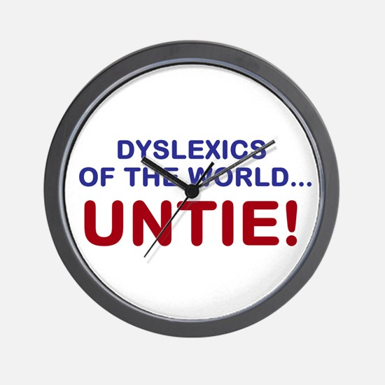 Dyslexics of the World Wall Clock