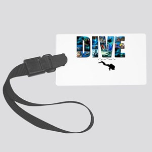 dive in pics copy Large Luggage Tag