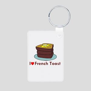 French Toast Aluminum Photo Keychain