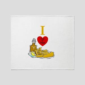 Fish N Chips Throw Blanket