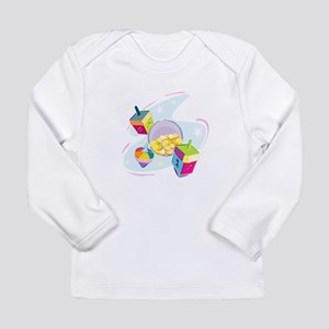 Pastel Dreidels Long Sleeve Infant T-Shirt