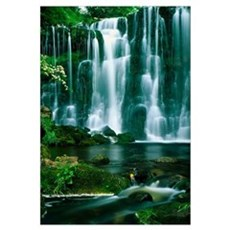 Waterfall Hebden Gill N Yorshire England Poster