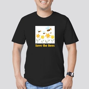 Save the Bees Men's Fitted T-Shirt (dark)