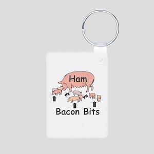 Bacon Bits Aluminum Photo Keychain