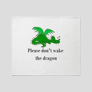 Sleeping Dragon Throw Blanket