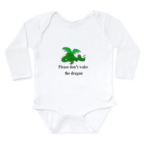 Sleeping Dragon Long Sleeve Infant Bodysuit