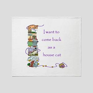 House Cat Throw Blanket