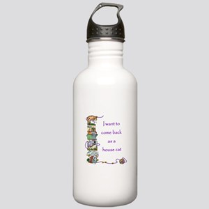 House Cat Stainless Water Bottle 1.0L