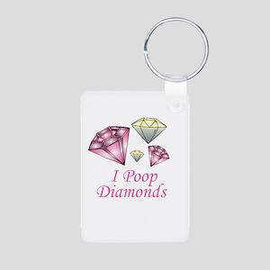 I Poop Diamonds Aluminum Photo Keychain