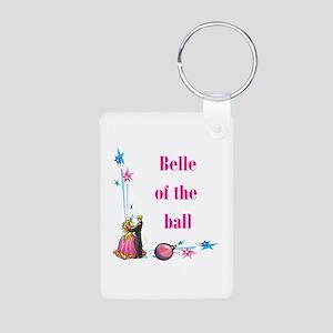 Belle of the Ball Aluminum Photo Keychain