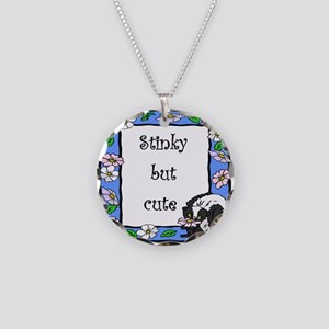 Stinky but Cute Necklace Circle Charm