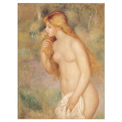Standing Bather, 1896 (oil on canvas) Poster