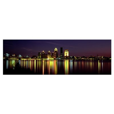 Night Louisville KY Framed Print